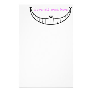 Cheshire Cat Smile Customised Stationery