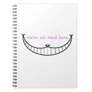 Cheshire Cat Smile Spiral Notebook