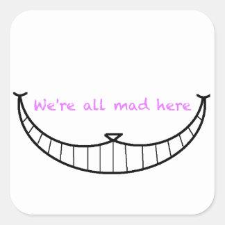 Cheshire Cat Smile Square Sticker