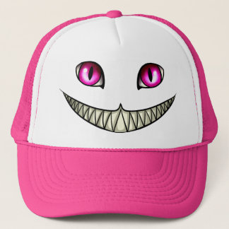 Cheshire cat trucker hat