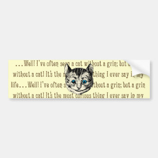 Cheshire Cat - Vintage Alice in Wonderland Bumper Stickers