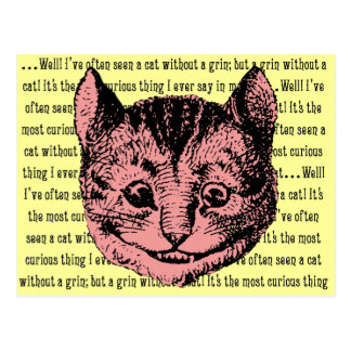 Cheshire Cat - Vintage Alice in Wonderland Postcard