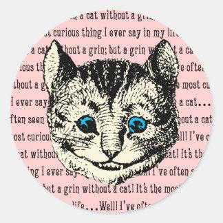 Cheshire Cat - Vintage Alice in Wonderland Round Sticker