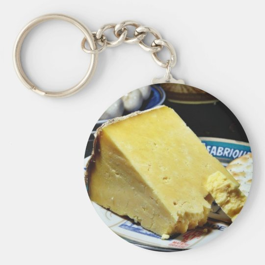 Cheshire Cheese Basic Round Button Key Ring