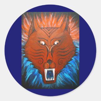 Cheshire Dog Round Sticker