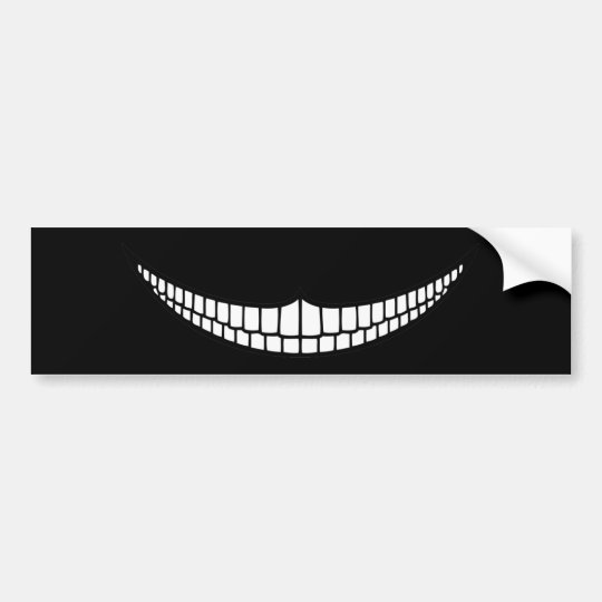Cheshire Grin Bumper Sticker