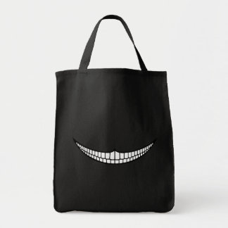 Cheshire Grin Grocery Tote Bag