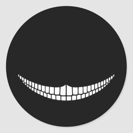 Cheshire Grin Stickers