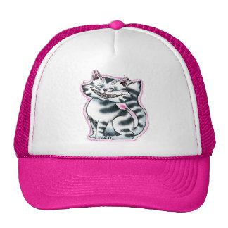 Cheshire Kitty Pink Trucker Hat