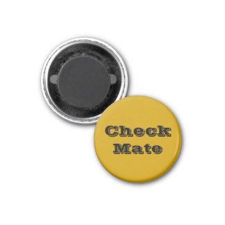 """Chess 1-1/4"""" Fridge Magnet ~ Gold's Check Mate"""