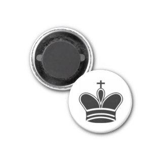 """Chess 1-1/4"""" Fridge Magnet ~ King (Black)"""