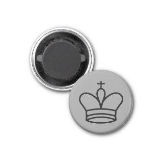 """Chess 1-1/4"""" Fridge Magnet ~ King (Silver)"""