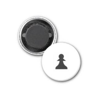 "Chess 1-1/4"" Fridge Magnet ~ Pawn (Black)"