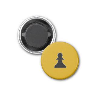"Chess 1-1/4"" Fridge Magnet ~ Pawn (Gold)"