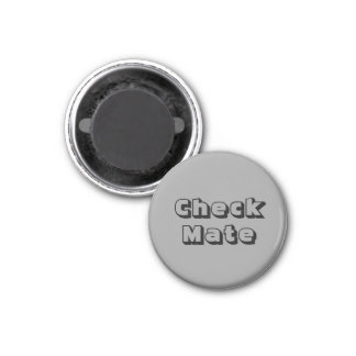 "Chess 1-1/4"" Fridge Magnet ~ Silver's Check Mate"