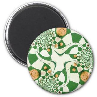 Chess 6 Cm Round Magnet