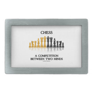 Chess A Competition Between Two Minds Chess Set Belt Buckles