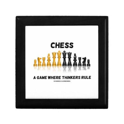 Chess A Game Where Thinkers Rule (Chess Set) Keepsake Box
