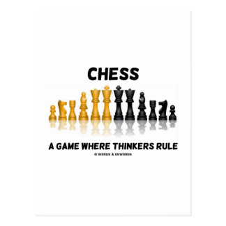 Chess A Game Where Thinkers Rule (Chess Set) Postcard