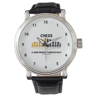 Chess A Game Where Thinkers Rule (Chess Set) Watch