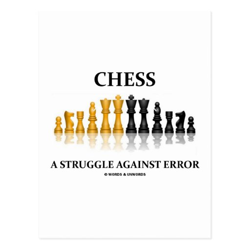 Chess A Struggle Against Error (Reflective Chess) Post Cards