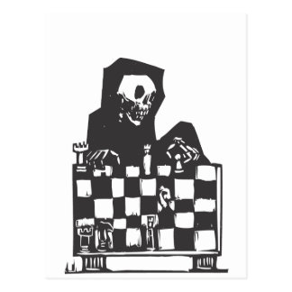 Chess and Death Postcard