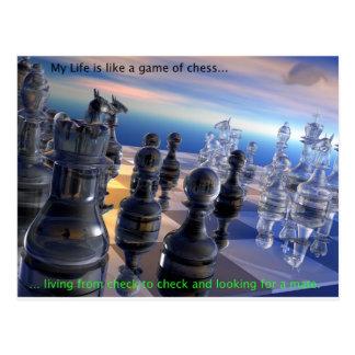 Chess and Life Postcard