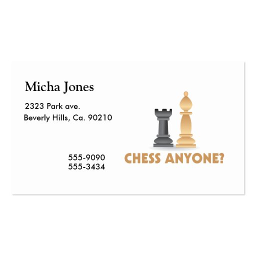 Chess Anyone Chess Pieces Business Card Templates