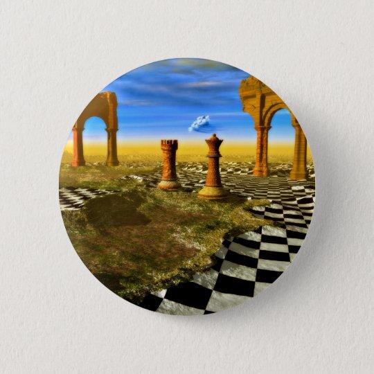 Chess Art 6 Cm Round Badge