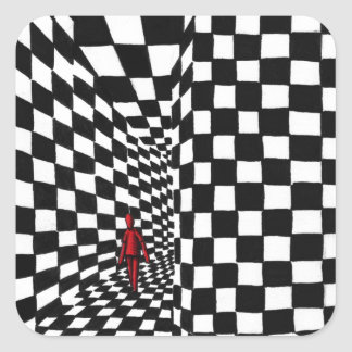 Chess Art Square Sticker