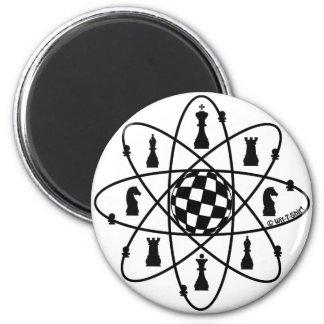Chess Atom -Chess Matters 6 Cm Round Magnet
