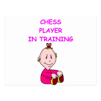 chess baby postcard