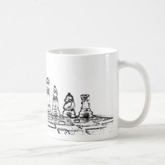 Chess Basic White Mug