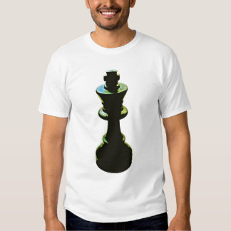 Chess, Black King, White Background Tees
