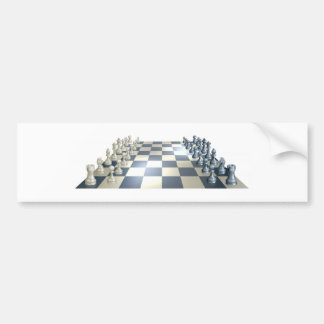 Chess board and pieces bumper stickers
