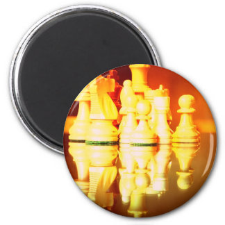 Chess Board and Pieces Magnet Refrigerator Magnet