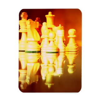Chess Board and Pieces  Premium Magnet Rectangle Magnet