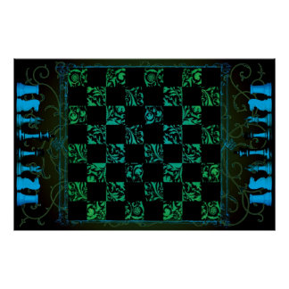 Chess Board Poster I