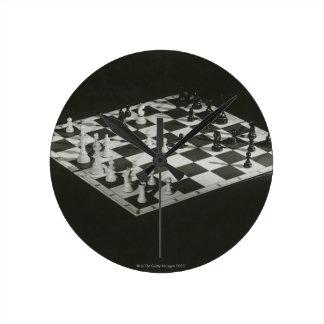 Chess Board Round Clock