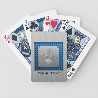 Chess; Brushed Metal-look Bicycle Playing Cards