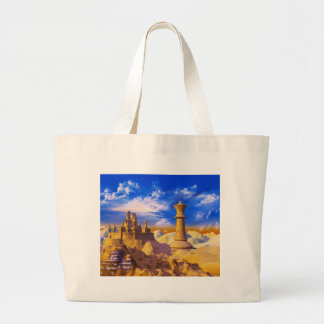Chess Castle Large Tote Bag
