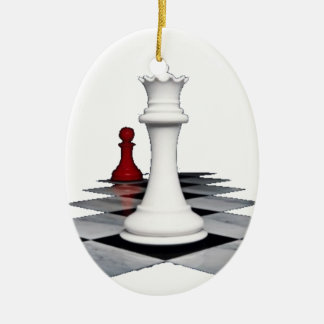 Chess Ceramic Oval Decoration