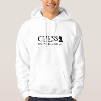 Chess Cheaper Than Therapy funny hoody with quote