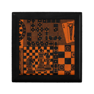 chess checkers dominos dominoes small square gift box