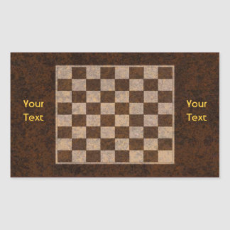 Chess, Checkers, Draughts Board Name Gift Tag Rectangular Sticker