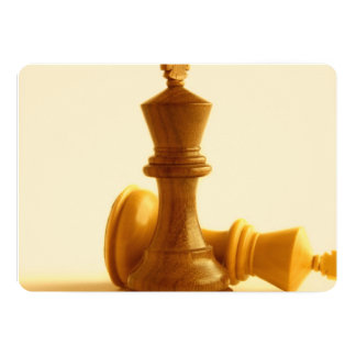 Chess Checkmate 13 Cm X 18 Cm Invitation Card