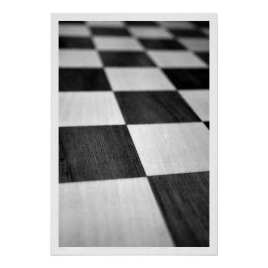 Chess / Chequered Board Poster