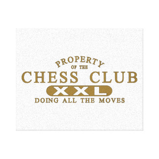 Chess Club Gallery Wrapped Canvas