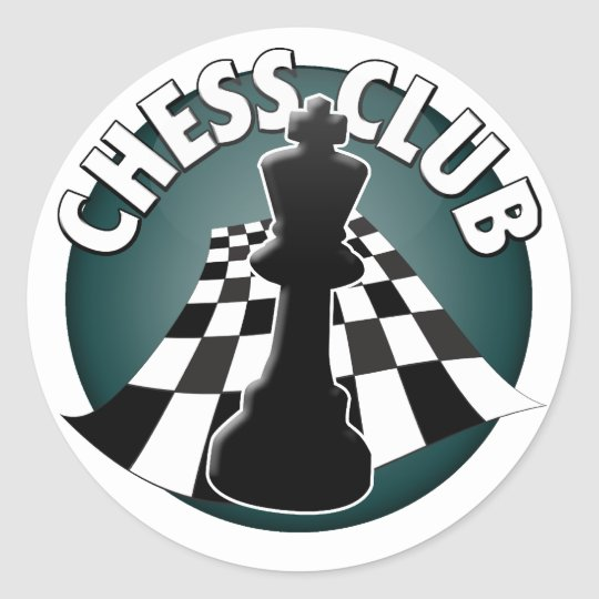 Chess Club Player Chessboard Picture Classic Round Sticker
