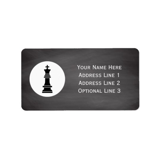 Chess Club Players | Personalised Chalkboard Label